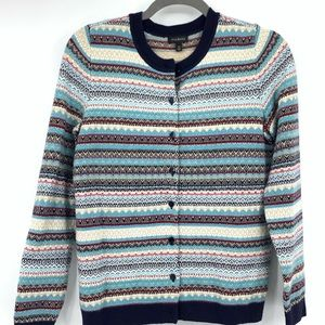 Talbots womens cardigan multicolor business casual